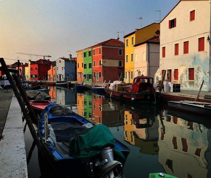 Sunset in Burano Italy