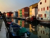 Sunset in Burano Italy