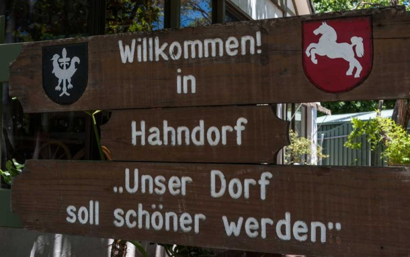Handorf  Welcome Sign