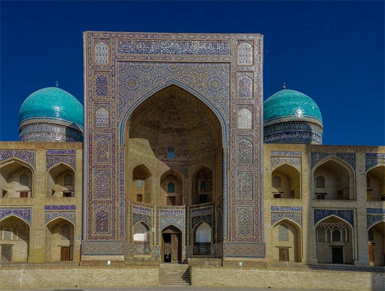 Mir-i-Arab Madrassah in Buhkara Uzbekistan