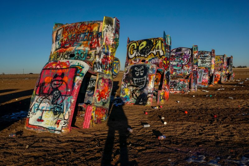 Long-Shadows-at-Cadillac-Ranch