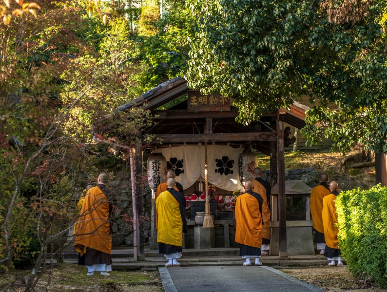 Monks at Ninna-ji