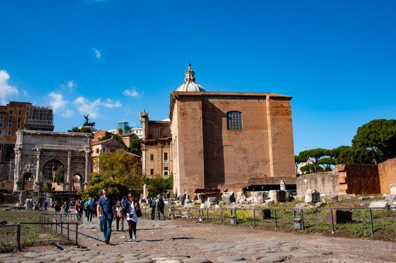 Walking in the Forum