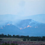 Los Alamos fire nearby NM