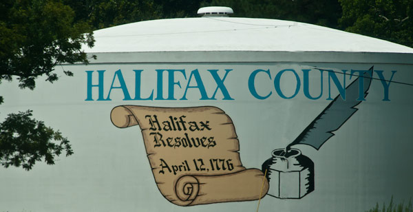 Halifax County Water tank