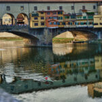 Ponte Vecchio and it's reflection in River Arno