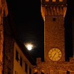 Moon-rise near the Bell Tower, Plazzo Vecchio, Florence