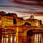 Ponte Santa Trinita, Evening in Florence