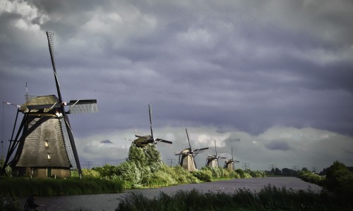Windmills in the Sun