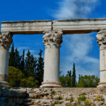 Corinthian Columns of Octavia Temple in Ancient Corinth