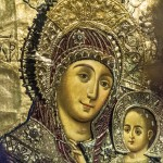 Silver Embossed picture Mary and Jesus