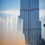 Water display in front of the Burj Khalifa