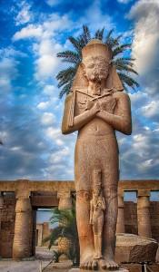 Karnak Temple statue