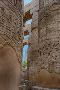 Karnak temple looking out