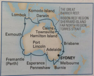 nCircumavigation Map of Australia