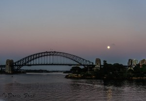 Moon over the Harbor Bridge