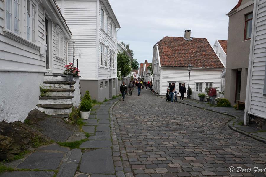 white wooden houses in Old Town Stavangar Norway