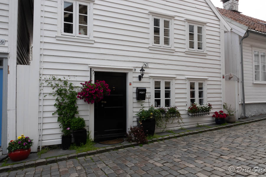 white wooden house in Old Town Stavangar Norway
