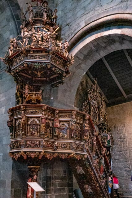 carved wooden pulpit